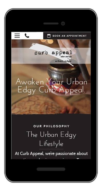 curb appeal website on phone