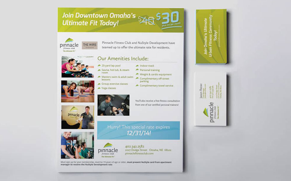 pinnacle ad and business cards